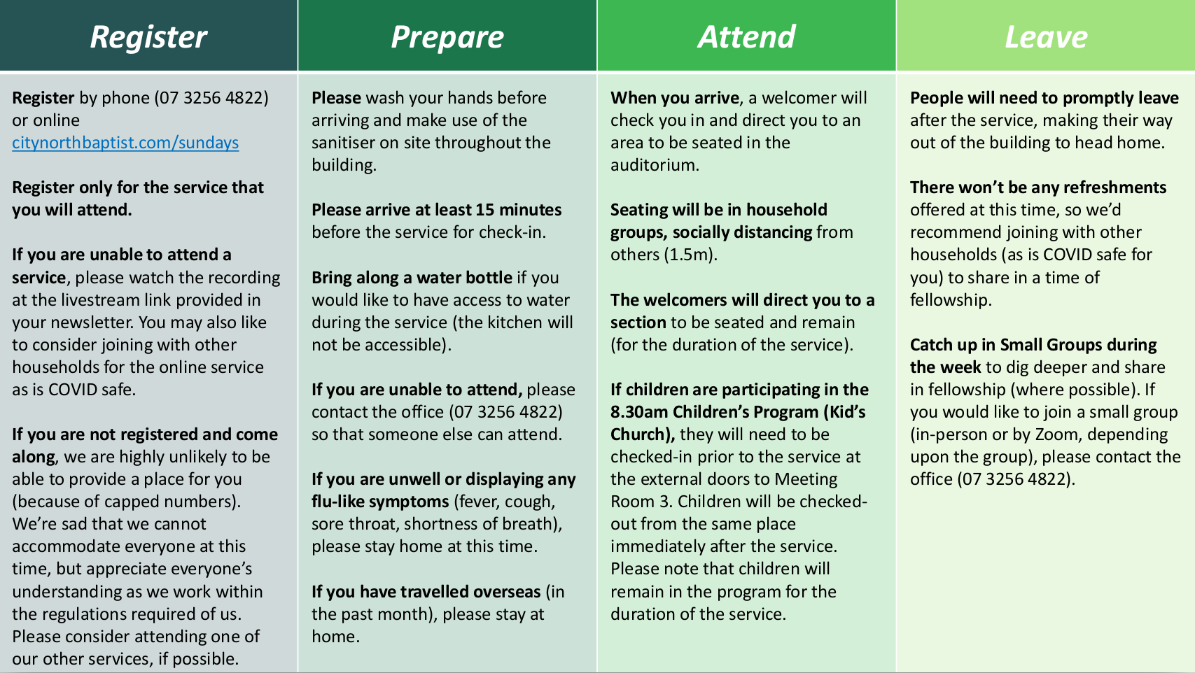 Guidelines for Attendance